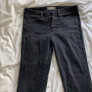 Black studded jeans